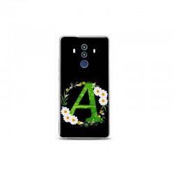 Huawei Mate 10 Pro A Harfli Papatya Tasarimli Telefon Kilifi Y-PAPATYAA