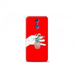 LG Q7 ananas Kırmızı Koleksiyon Telefon Kılıfı Y-KRMKLF023