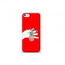 iPhone 5S ananas Kırmızı Koleksiyon Telefon Kılıfı Y-KRMKLF023