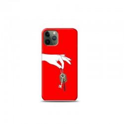 iPhone 11 Pro Max anahtarlık Kırmızı Koleksiyon Telefon Kılıfı Y-KRMKLF021