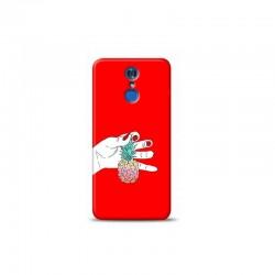 LG Q7 ananas Kırmızı Koleksiyon Telefon Kılıfı Y-KRMKLF044