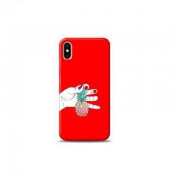 iPhone XS ananas Kırmızı Koleksiyon Telefon Kılıfı Y-KRMKLF044