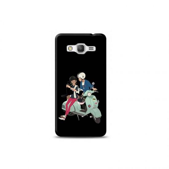 Samsung J2 Prime sevgili motorcular Siyah Koleksiyon Telefon Kılıfı Y-SYHKLF120