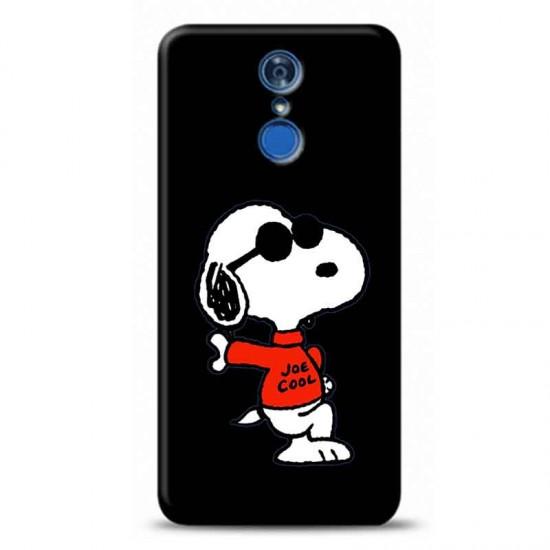 huawei Honor 9 LiteGözlüklü Snoppy Siyah koleksiyon telefon kılıfı Y-SYHKLF137