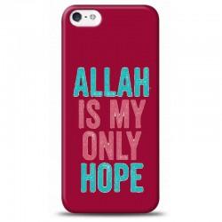 iPhone 5S Allah Is My Only Hope Mor koleksiyon telefon kılıfı YMTRKLF221