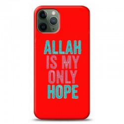 iPhone 11 Pro Max Allah ıs my only hope kırmızı koleksiyon telefon kılıfı Y-KRMKLF237