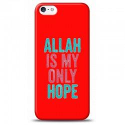 iPhone 5S Allah ıs my only hope kırmızı koleksiyon telefon kılıfı Y-KRMKLF237